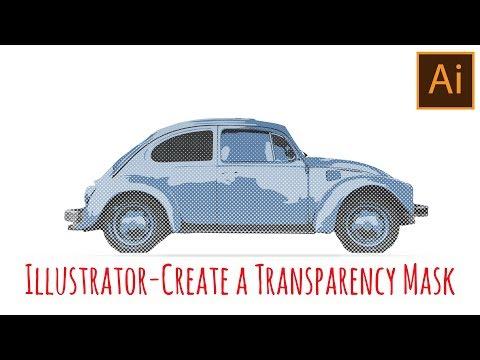 Illustrator - Create a Transparency Mask