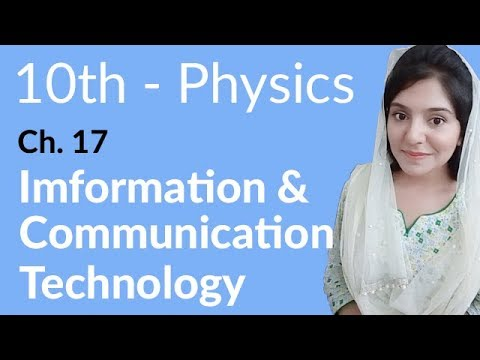 10th Class Physics Ch 17,Information & Communication Technology -Matric Part 2 Physics Chapter 17