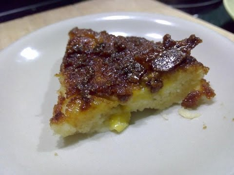 DIY easy caramelized banana upside down cake using a rice cooker
