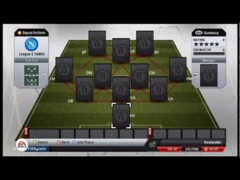 Fifa 13 Ultimate Team Squad Builder - 10K League 2 team!