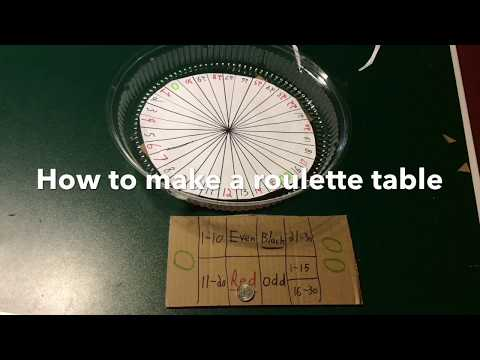 How To Make A DIY Roulette Table