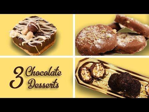 3 Chocolate Desserts Recipes In Hindi Easy Chocolate Desserts No Bake At Home