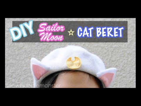 【DIY】『Luna and Artemis』Cat Beret【Sailor Moon】| snowbubblemonster