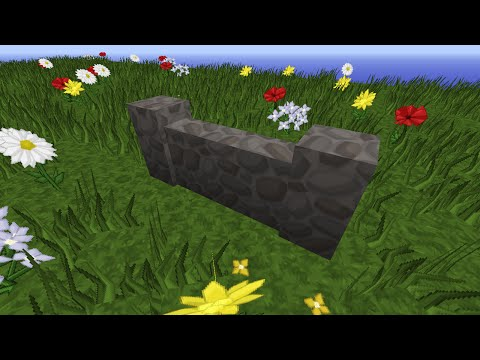 How to MAKE A COBBLESTONE WALL IN MINECRAFT 1.8 Tutorial