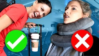 Download Testing TRAVEL HACKS at the Airport! Video
