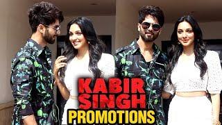 Shahid Kapoor And Kiara Advani Promote Film Kabir Singh In Style