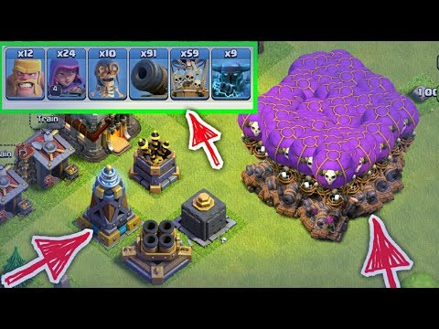 Clash of Clans Unlimited troops attack 2017-2018 ,Drop Ship, Super Pekka , Night witch hack