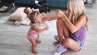 SAVANNAH TEACHES TWIN BABIES HOW TO WALK!!! (KID SWAP)
