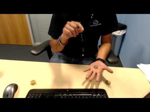Magic coins trick.