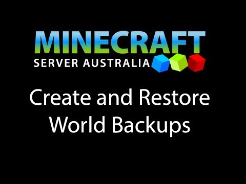 Create and Restore World Backups - Minecraft Server Australia