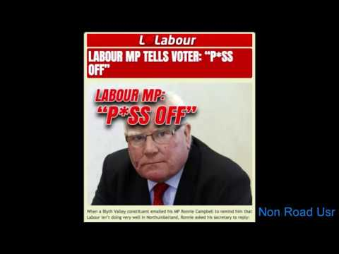 Labour Party MP tells voter to Piss Off...