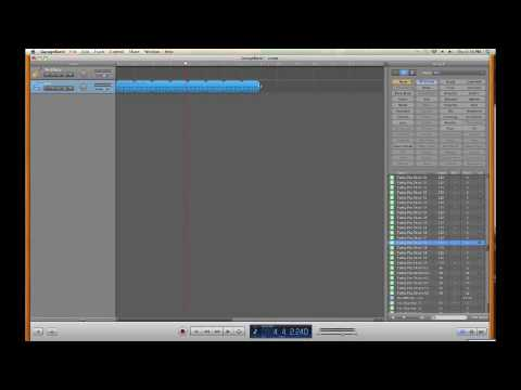 Garageband, how to make your own loops, Using & editing the loops in Garageband.