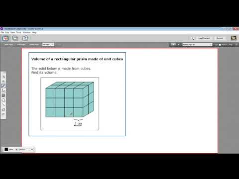 Volume of a rectangular prism made of unit cubes