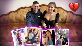 EX-COUPLE REACTS TO OLD RELATIONSHIP PICTURES!! *AWKWARD*