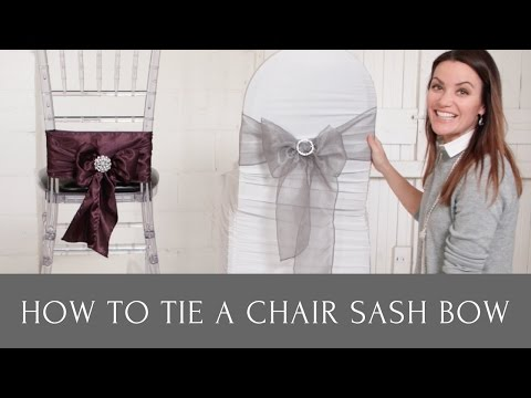 How to Tie a Chair Sash Bow With Chair Sash Buckles and Chair Sash Brooches