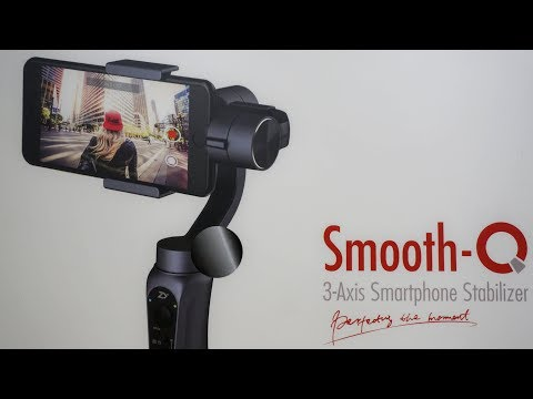 Zhiyun Smooth Q + GoPro adapter | Unboxing, Review (3-axis camera Stabilizer Gimbal)