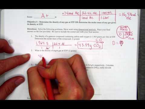 density of gases at STP