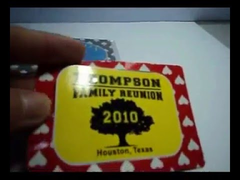 Family Reunion Favors - Set of 4 Vegas Magnet Frames