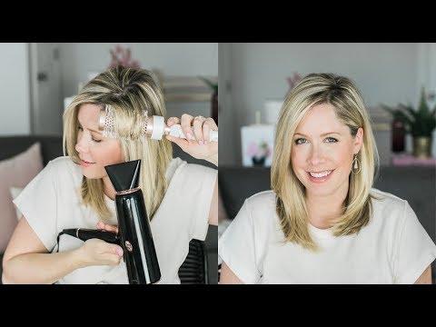 How to Blow Dry + Round Brush Medium Hair for MAXIMUM Volume