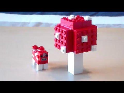 Lego Minecraft Giant Red Mushroom Tutorial
