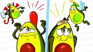 BAD GIRL vs GOOD GIRL | Awkward Moments by Avocado Couple Live