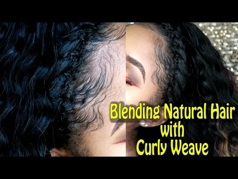 Blending Natural Hair with Curly Weave ft. Bloomy Brazilian Deep Wave Hair