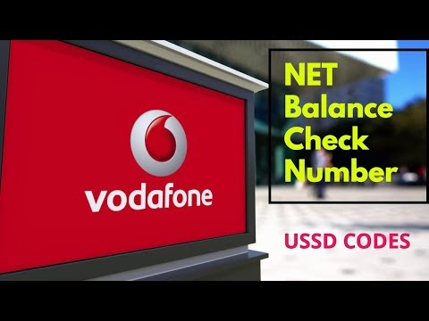VodaFone Net Balance Check Number | Balance Check Number
