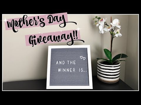 MOTHER'S DAY GIVEAWAY WINNER :: LETTER BOARD & AMAZON GIFT CARD