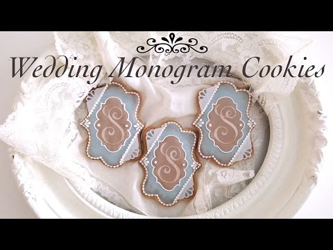 How To Decorate Monogram Wedding Cookies With Royal Icing (My Wedding Cookies!)