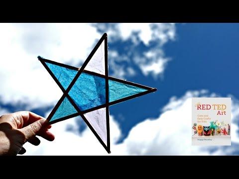 How to Make Craft Stick Star Sun Catchers