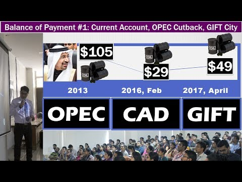 BoP#1: Current Account, OPEC Cutback, Strategic Oil Reserve, GIFT City