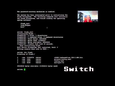 Student video on password recovery for Cisco 1941 router & 2960 switch