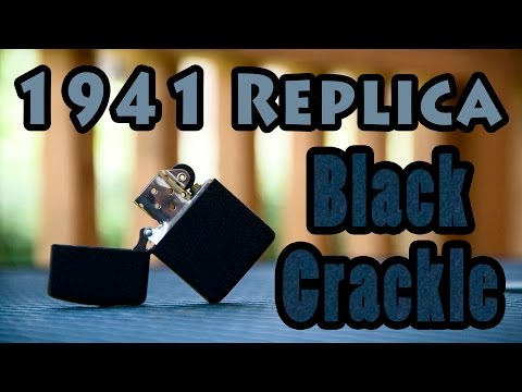 New Zippo - Black Crackle 1941 Replica (29582)