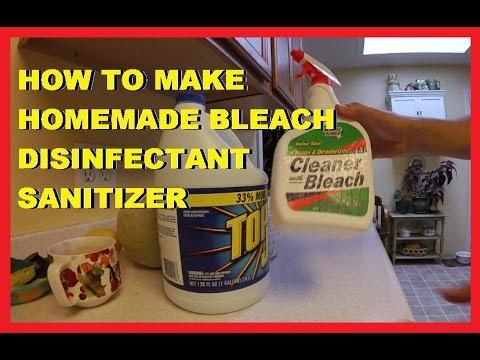 How To Make Homemade Bleach Disinfectant Sanitizer Cleaner! -Jonny DIY