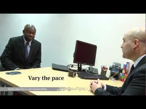 Interview Body Language and Presentation