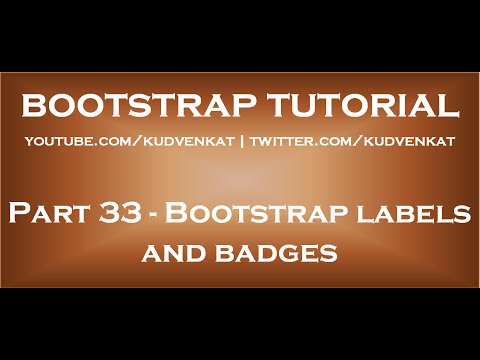 Bootstrap labels and badges