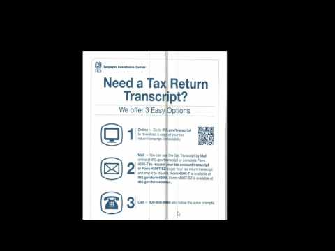 How to request tax transcript