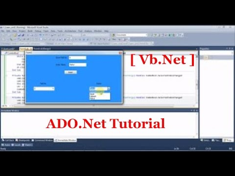ADO.NET tutorial for beginners with VB.Net [Part-1]
