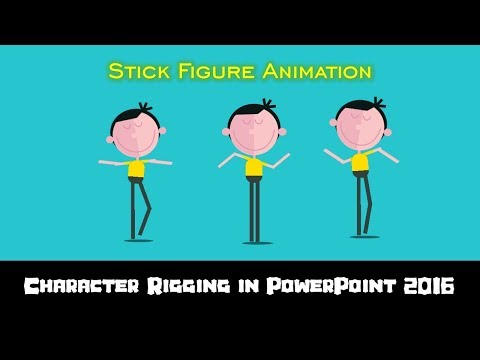 Stick Figure Animation | Character Rigging in PowerPoint 2016 | The Teacher
