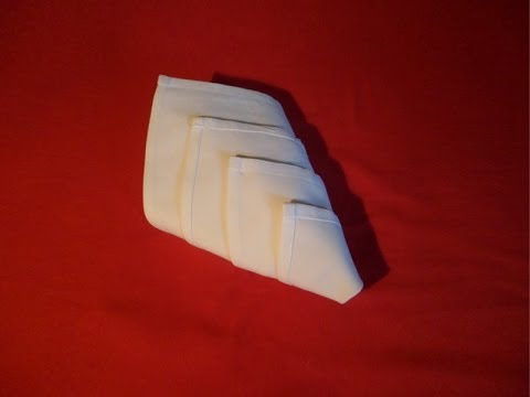 How To Fold Napkins - Diamond Fold (Napkin Folding)