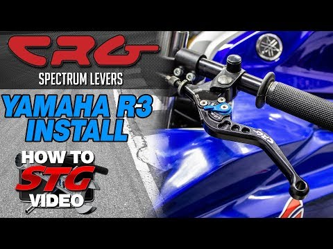 CRG Yamaha R3 Spectrum Levers Install | Sportbike Track Gear