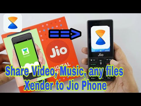 Transfer any Video or Music Xender or Android Phone  to Jio phone Just 2 second
