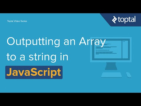 JavaScript Video Tutorial - Outputting an Array to a String