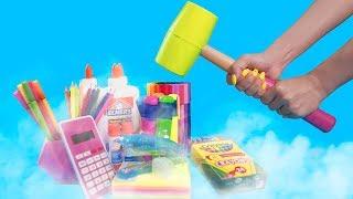 Experiment Liquid Nitrogen Vs School Supplies!