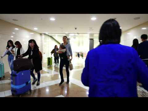 Arriving in Gimpo Seoul Airport