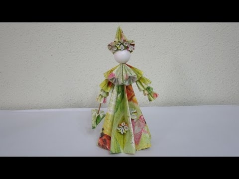 TUTORIAL - How to make 3D Paper Doll (The English Rose)