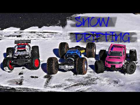 RC CAR VS TRUCK VS MONSTER | SNOW DRIFTING | ONLY ONE SURVIVED