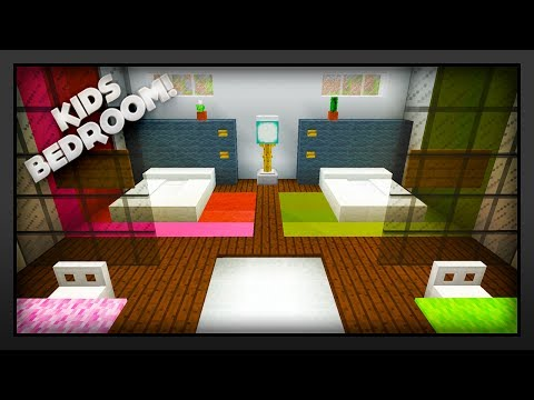 MInecraft - How To Make A Kids Bedroom