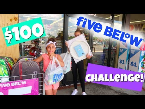 $100 FiVE BELOW SHOPPiNG CHALLENGE!