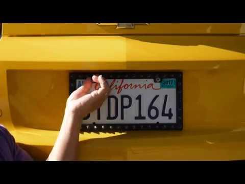 Darth Will's Camaro Bumblebee Vlog -  License Plate